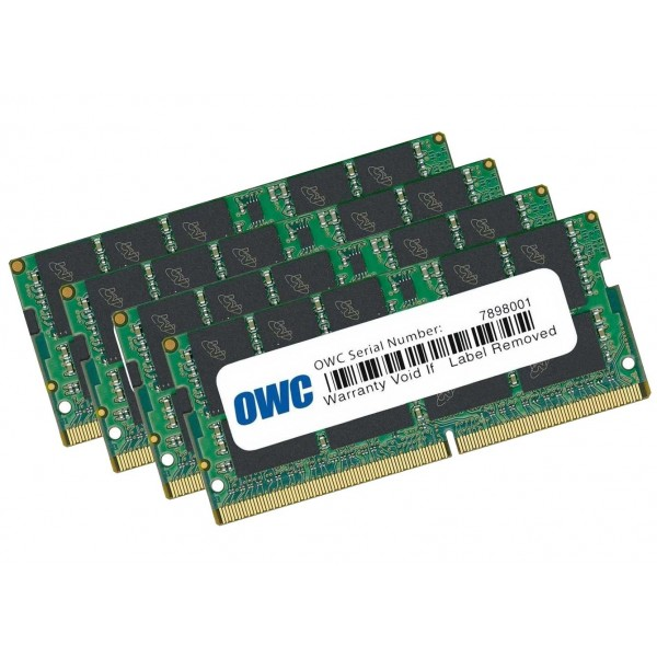 32.0GB (4 x 8GB) 2666MHz DDR4 SO-DIMM PC4-21300 SO-DIMM 260 Pin OWC Memory Upgrade Kit, OWC2666DDR4S32S