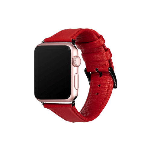 Sena - Kyle Leather Apple Watch Band 38/40mm - Red