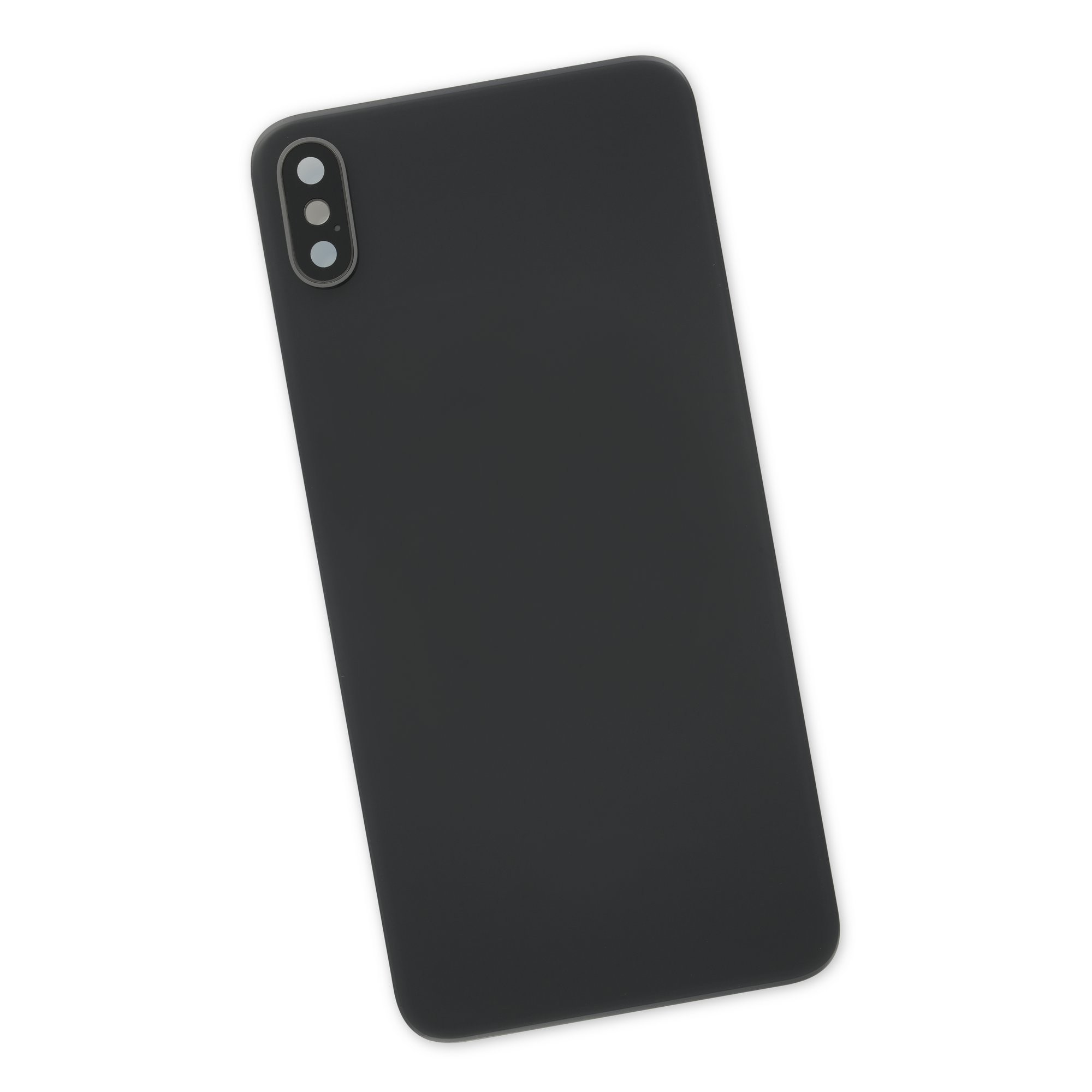 iPhone XS Max Aftermarket Blank Rear Glass Panel with Lens Cover - Black, IF407-017-1