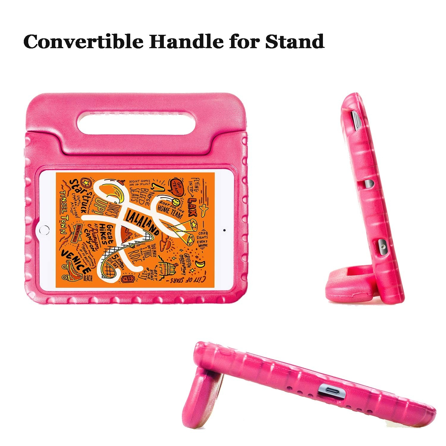 Kids Case for iPad Mini 5, 4 - Light Weight Shockproof Convertible Handle Super Protective Stand Kids - Blue, B07Q575GFR