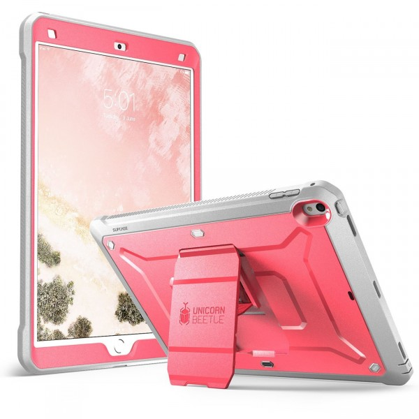 SUPCASE Heavy Duty Unicorn Beetle PRO Series Full-body Rugged Protective Case with Built-in Screen Protector for iPad Pro 10.5 inch - Pink/Gray, B0714N4TLW