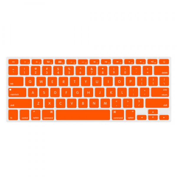 "NewerTech NuGuard Keyboard Cover for 2011-15 MacBook Air 13"", All MacBook Pro Retina - Orange, NWTNUGKBMBRO"