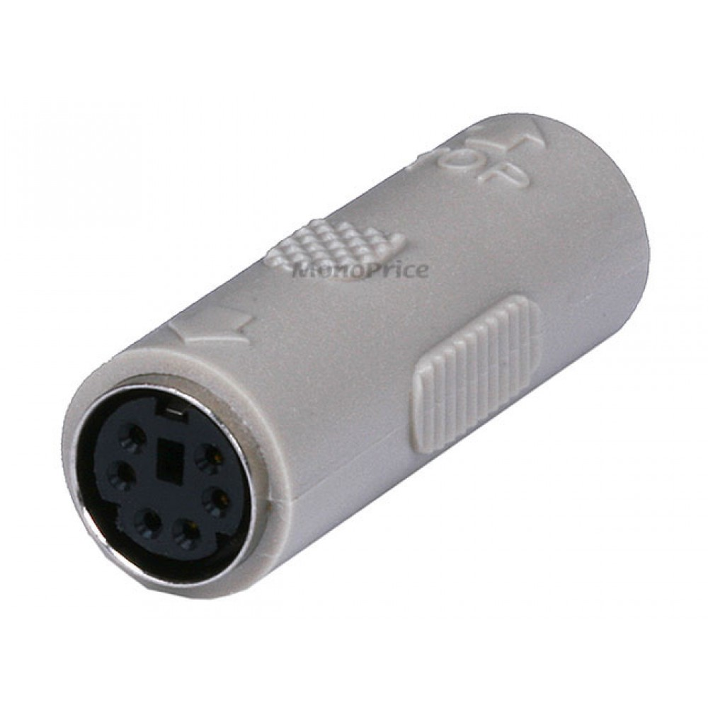 PS2 coupler - Mini DIN6 F/F, Molded Gender Changers, COUPL-1173