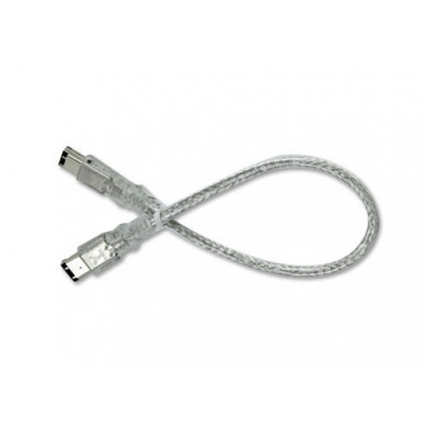 NewerTech 6 PIN/ 6PIN FireWire 400 - FireWire 400 Cable, 30cm, Clear, FWCAB-66-1FT-CL