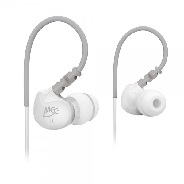 MEElectronics Sport-Fi M6 Noise Isolating In-Ear Headphones with Memory Wire (White), B008YDTQRS