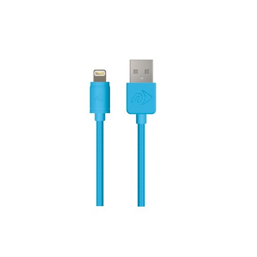 **DISCONTINUED** NewerTech 1M Premium Lightning Cables – Blue  MFi certified, NWTCBLUSBL1MBL