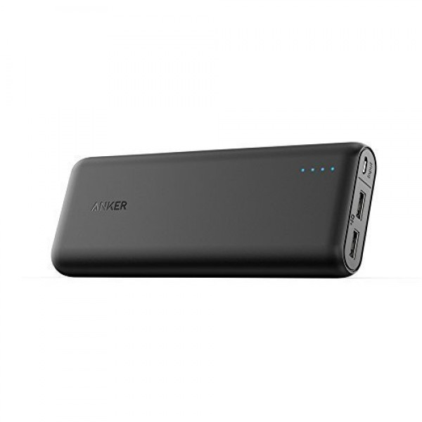 Anker PowerCore 20100 20000mAh Portable Charger - Ultra High Capacity Power Bank with 4.8A Output, PowerIQ Technology for iPhone, iPad & Samsung Galaxy & More - Black, A1271H12