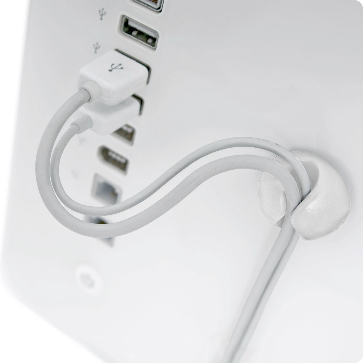 Bluelounge CableDrop - Cable Clips - White, CD-WH
