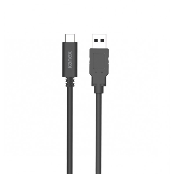 Kanex USB 3.1 Gen 2 Type-C to USB Type-A Charge & Sync Cable, 1M - Black, K181-1082-BK1M