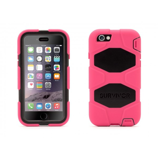 Griffin Survivor Extreme-Duty Case for iPhone 6/6S - Pink/Black, IPH6-EXT-GB38904