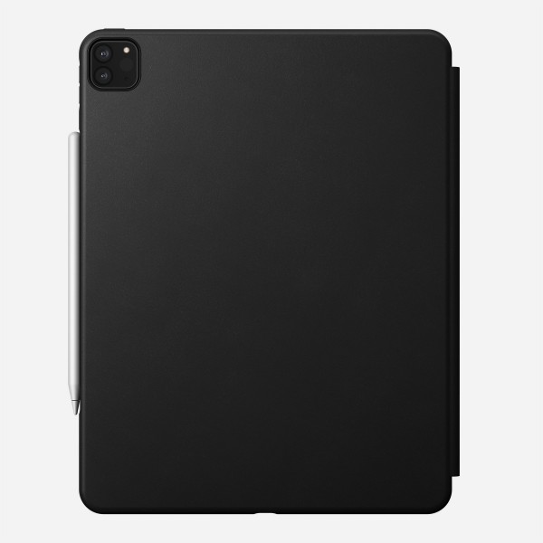 Nomad - Rugged Folio - iPad Pro 12.9 (4th Gen) - Leather - Black, NM2IC10H00