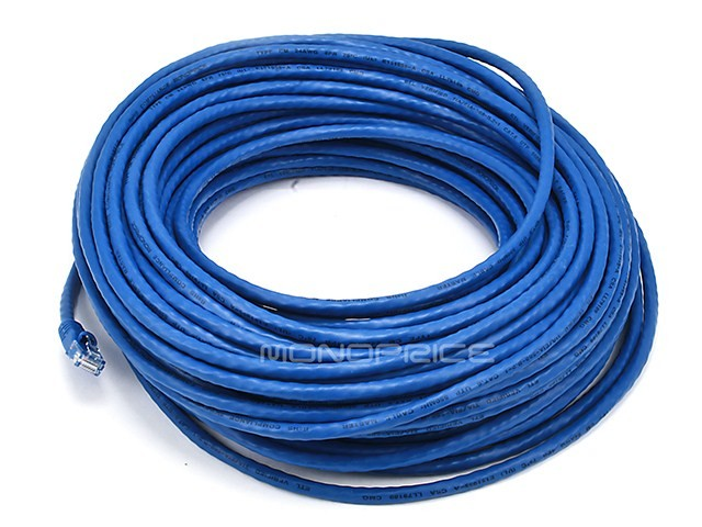 30m 24AWG Cat6 550MHz UTP Ethernet Bare Copper Network Cable - Blue, ETH-2119