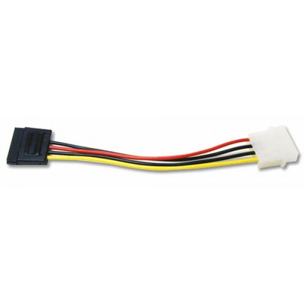 Serial ATA (SATA) - 4 Pin Male to 15 Pin Female Converter Cable - use a Serial ATA Hard Drive on systems with 'standard' power cables