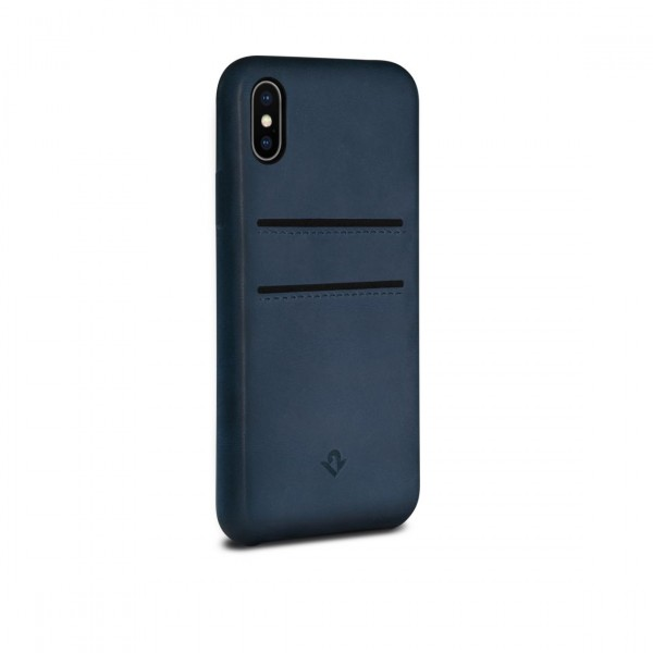 Twelve South RelaxedLeather with pockets for iPhone X/Xs - Indigo, 12-1740