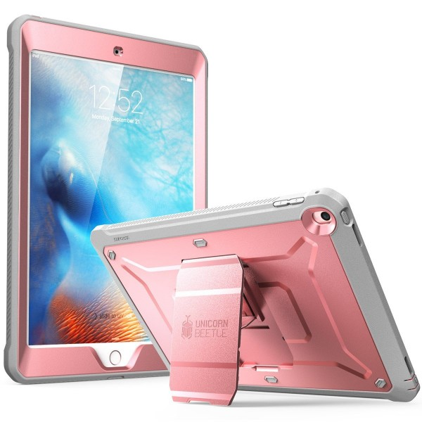 Supcase Unicorn Beetle Pro Full Body Rugged Protective Case for iPad 9.7 (2017) - RoseGold/Gray, B075N69XYR