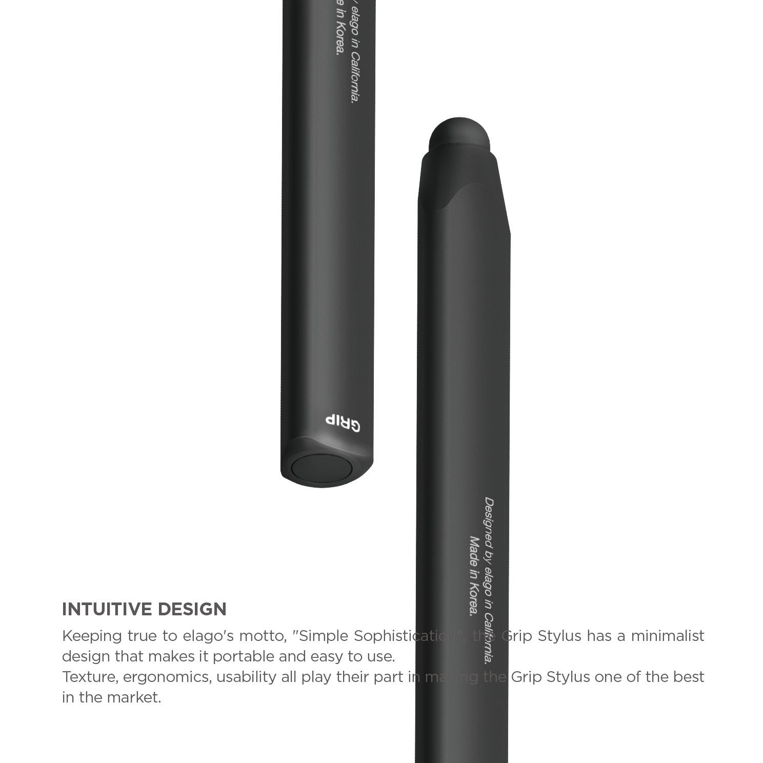 elago Stylus Grip for All iPhones, iPad and Galaxy -World First Replaceable Tip (Extra Rubber Tip included) - Black, B0052WCZEK