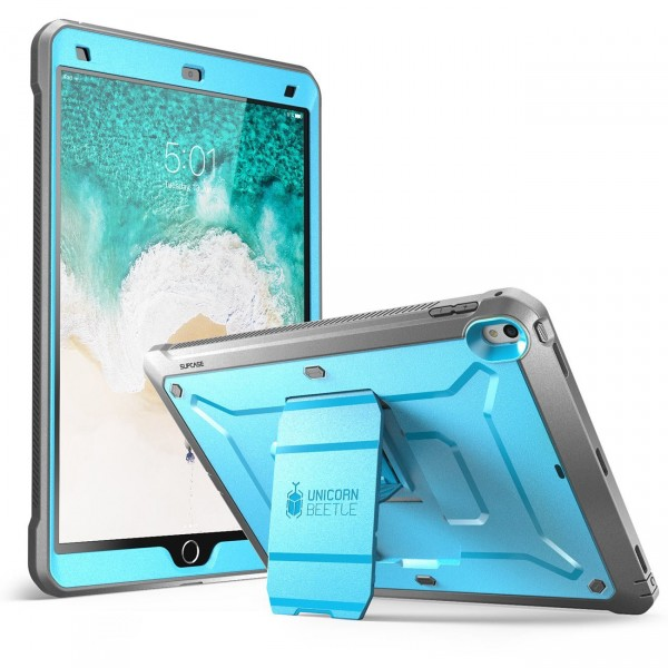 SUPCASE Heavy Duty Unicorn Beetle PRO Series Full-body Rugged Protective Case with Built-in Screen Protector for iPad Pro 10.5 inch - Blue/Black, B071J5DGHN