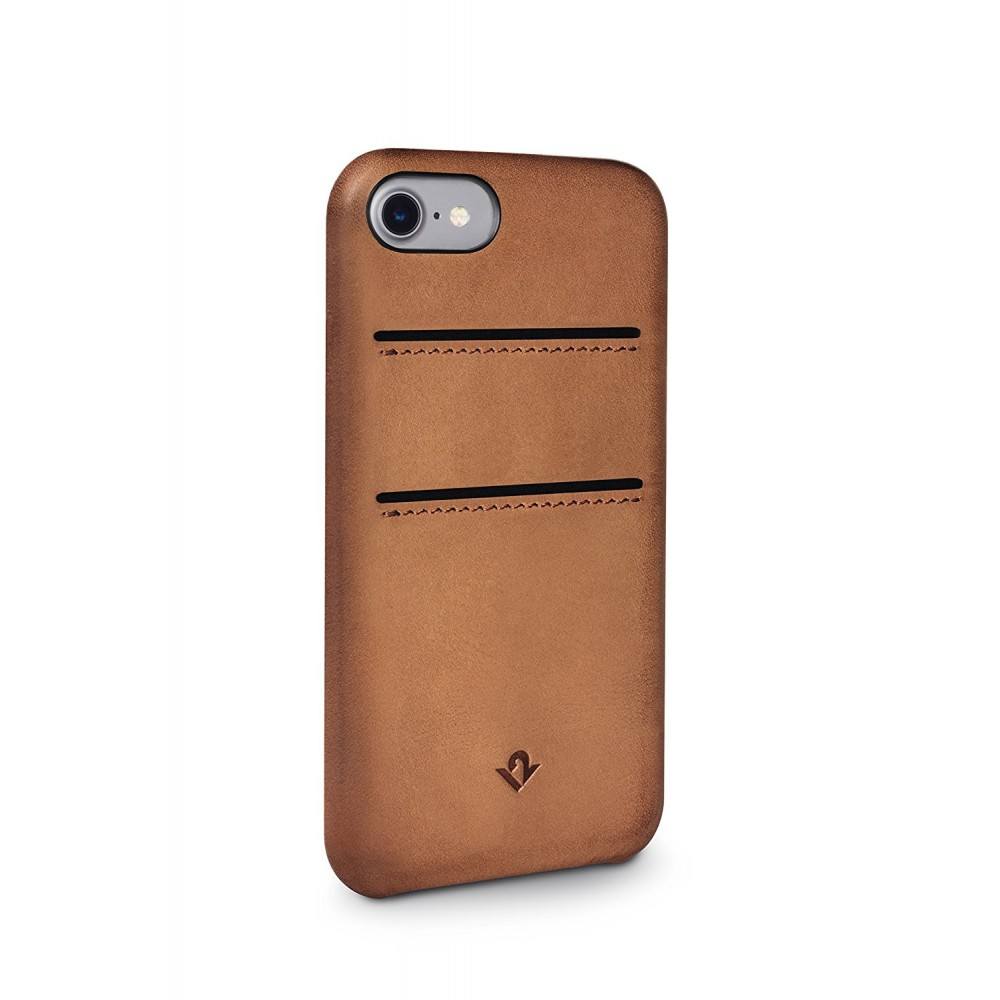 **DISCONTINUED** Twelve South Relaxed Leather w/ Pockets for iPhone 8/7/6S - Brown, 12-1644