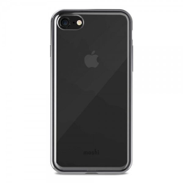Moshi Vitros Clear Protective Case for iPhone 8/7 - Raven Black, 99MO103032