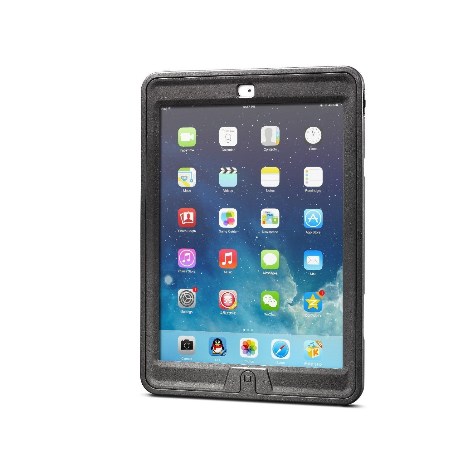 New Trent iPad 9.7 Case For iPad 2018 (6th gen)/ 2017 (5th gen), iPad Air 2 / iPad Air, iPad Pro 9.7 Heavy Duty Gladius Full-Body Rugged Protective Case with Built-in Screen Protector & Dual Layer Design, NT611GR