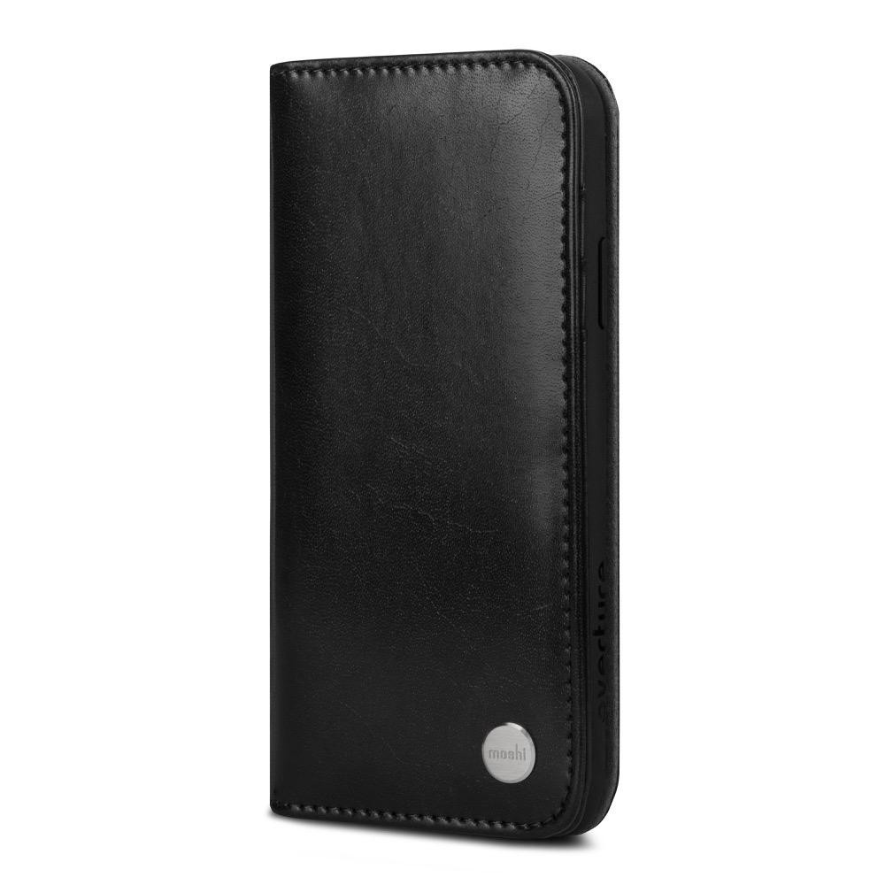 Moshi Overture Wallet Case for iPhone X/Xs - Charcoal Black, 99MO101002