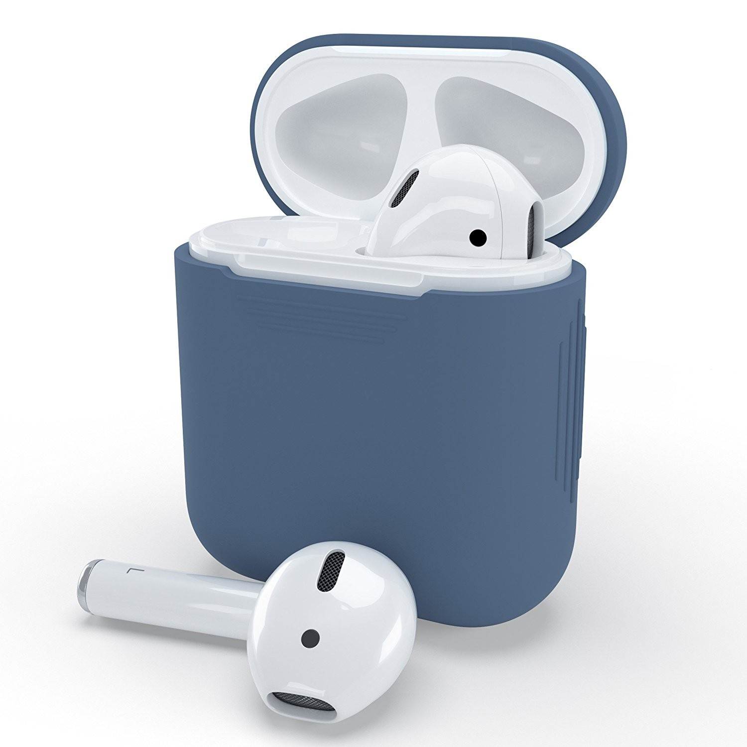 PodSkinz Protective Silicone Cover and Skin for Apple Airpods and Airpods 2 Charging Case - Cobalt Blue, B076W7K7L7