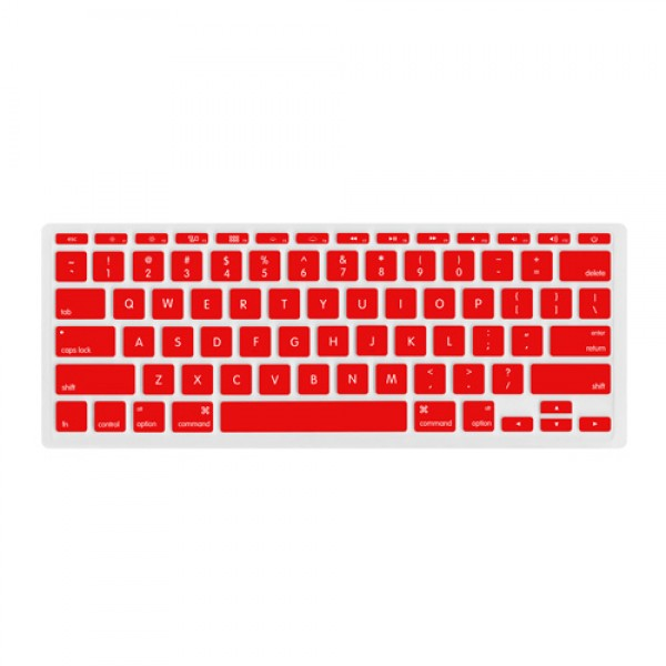 "NewerTech NuGuard Keyboard Cover for all 2011-2016 MacBook Air 11"" models - Red , NWTNUGKBA1211R"