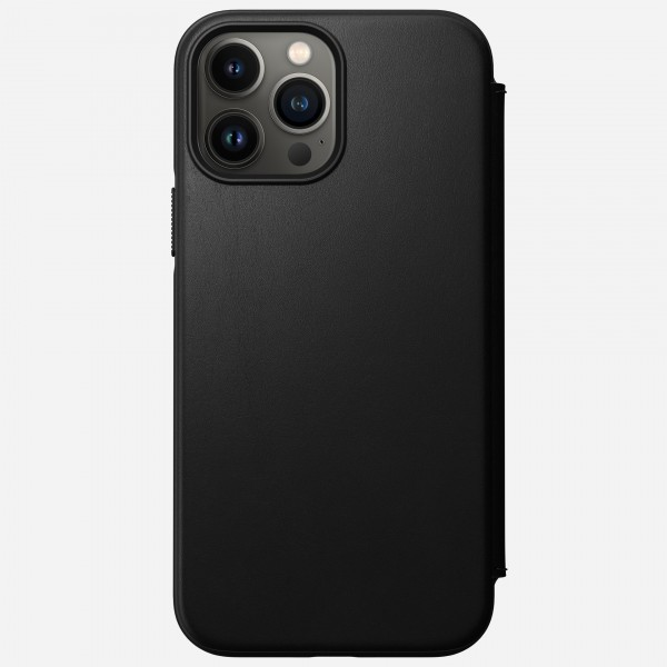Nomad Modern Leather Folio Case For iPhone 13 Pro Max - Black, NM01079385