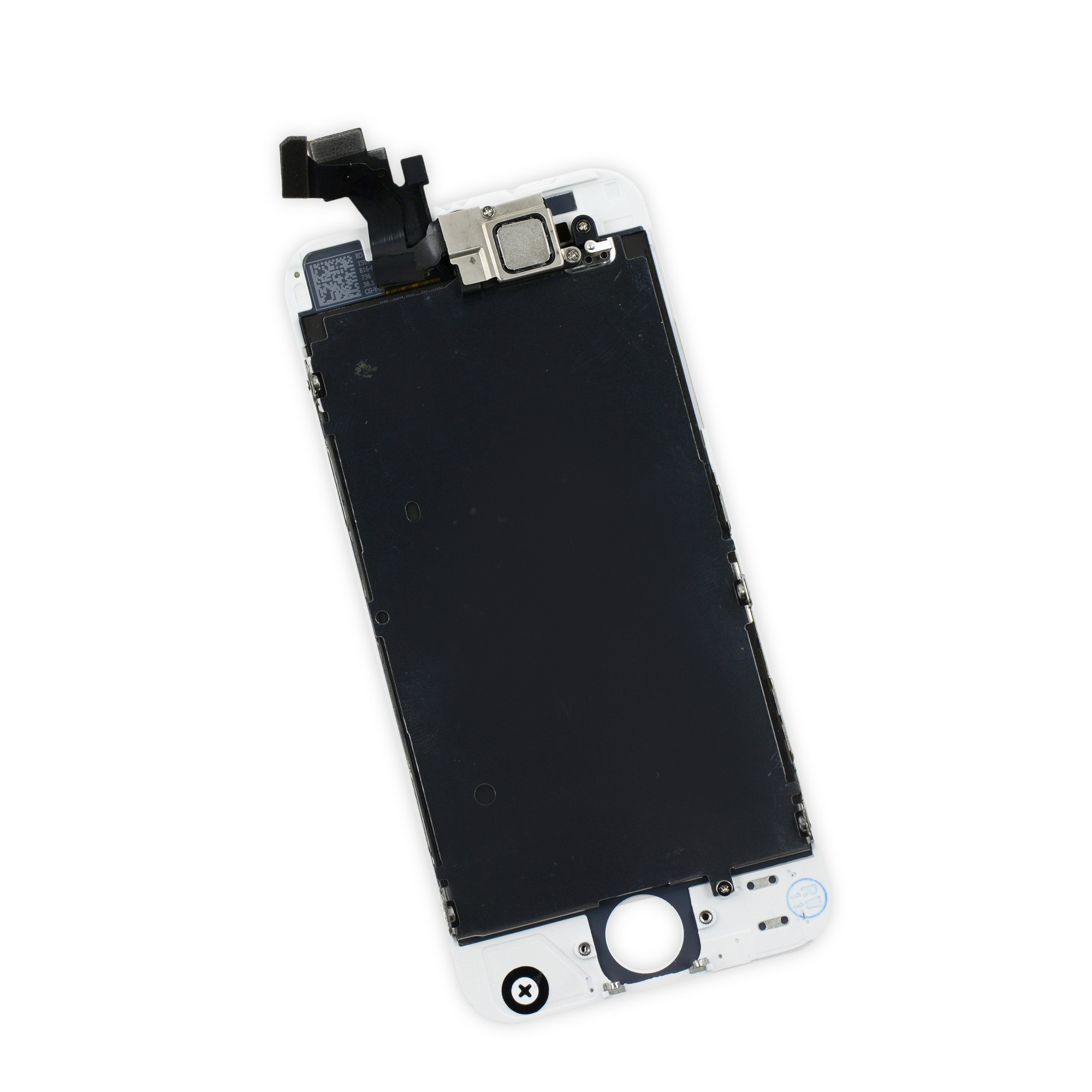 iFixit iPhone 5 LCD Screen and Digitizer Full Assembly, New, Fix Kit - White, IF118-028-8