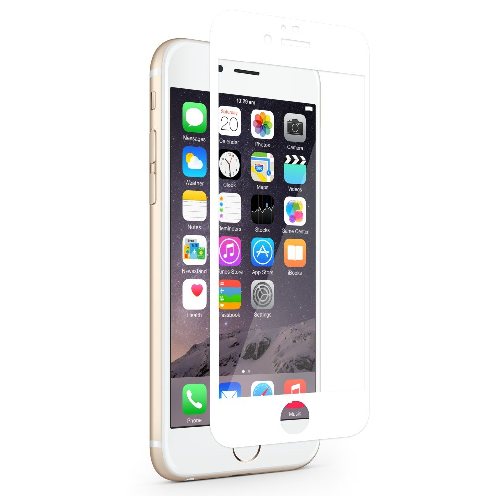 Moshi iVisor XT Bubble Free Screen Guard for iPhone 6 Plus/6S Plus (Clear) - White, IPH6+IVIS-XT-WH