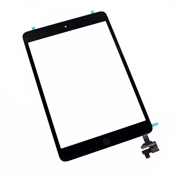 iPad mini 1/2 Front Glass/Digitizer Touch Panel Full Assembly, Part Only, New - Black, IF122-001-1