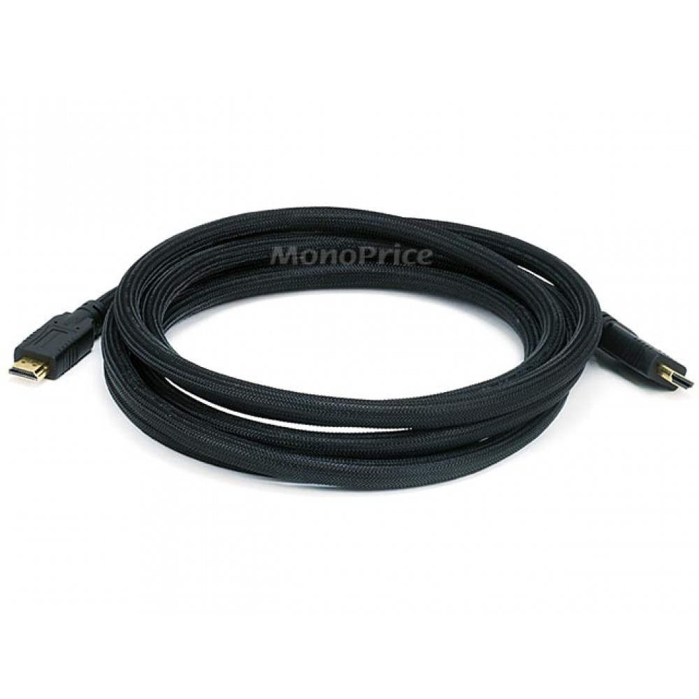3m 24AWG CL2 High Speed HDMI Cable With Ethernet w/ Net Jacket - Black, HDMICAB-10FT-6076