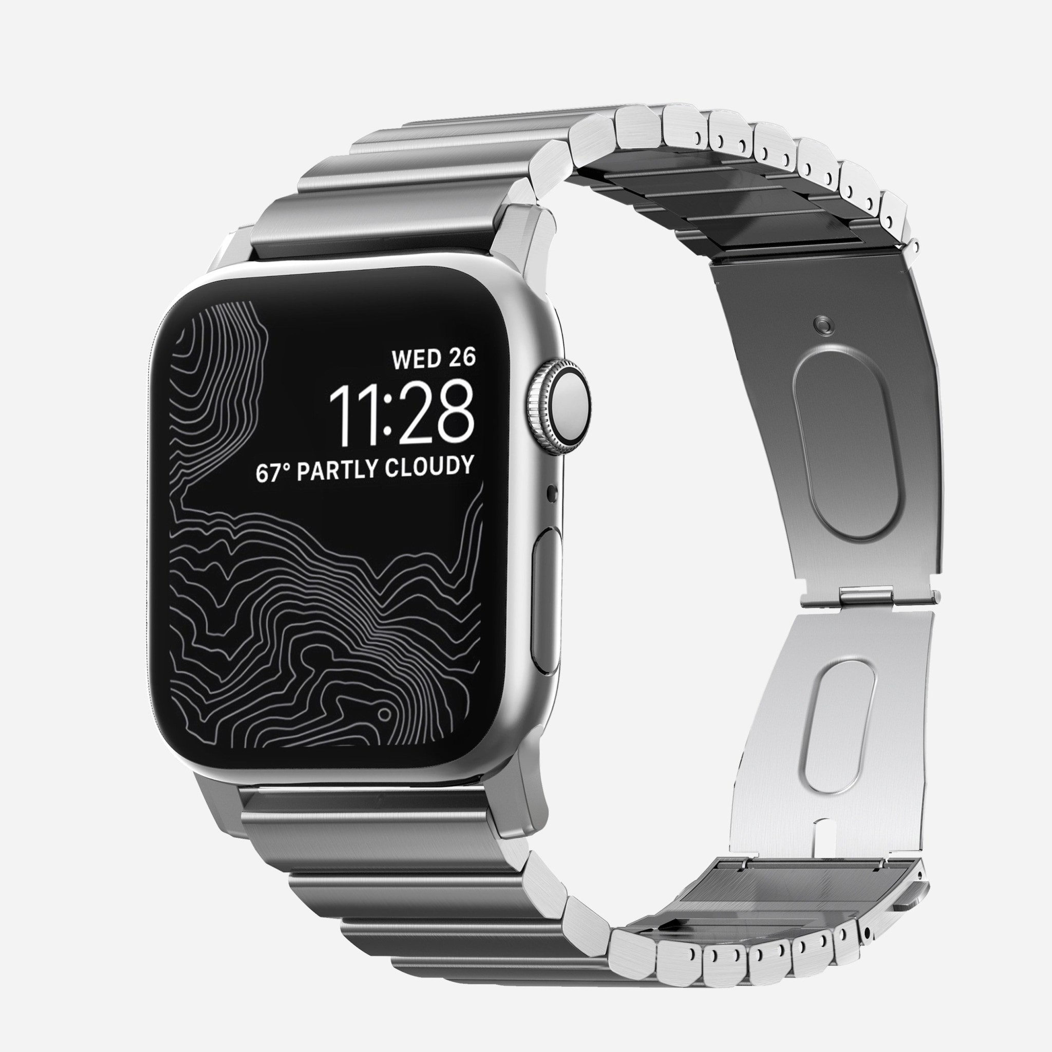 Nomad - Steel Band for Apple Watch 42/44mm - Silver, NM1A4HS000