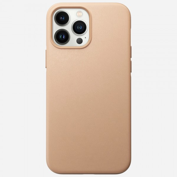 Nomad Modern Leather Case For iPhone 13 Pro Max - Natural, NM01067085