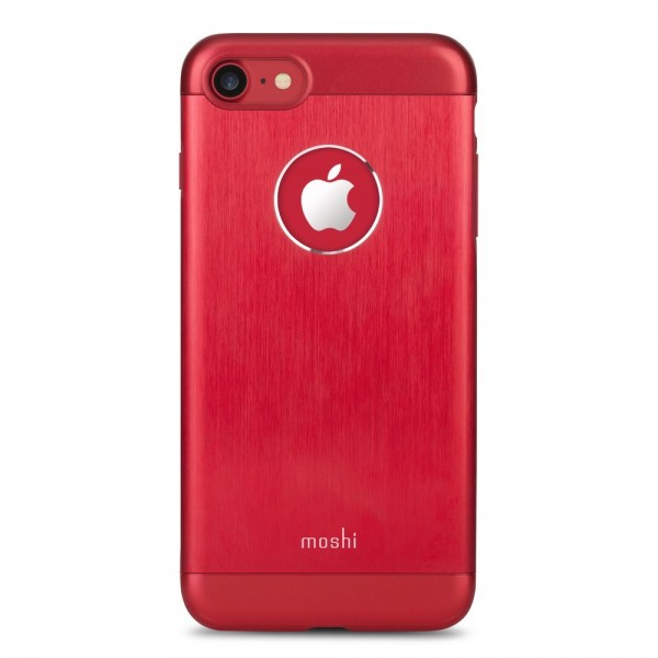 MOSHI iGlaze Armour for iPhone 8/7, (No Qi charging) - Red, 99MO088321