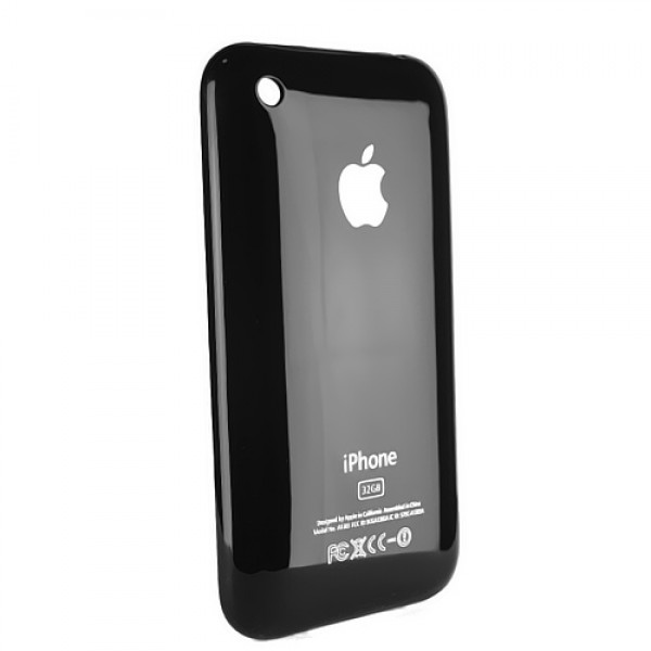 Apple iPhone 3GS 16GB Back Cover - High Quality (Black)