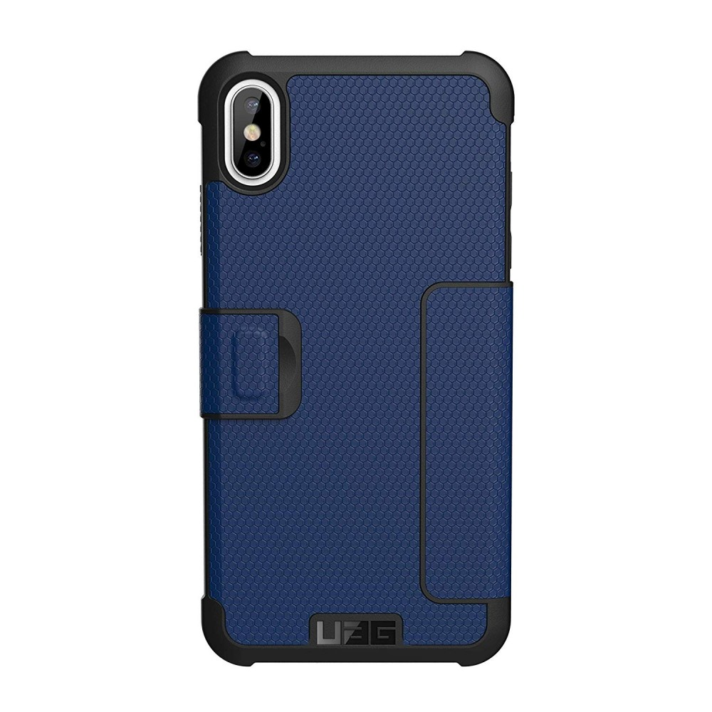 UAG Metropolis for iPhone Xs Max Feather-Light Rugged, Folio Military Drop Tested Card Case - Cobalt, 111106115050