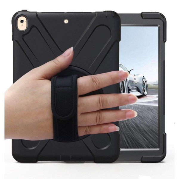BRAECN Case with 360 Degree Swivel Stand/Hand Strap and Shoulder Strap Case for  iPad Pro 10.5 - Black, B07447B3D2