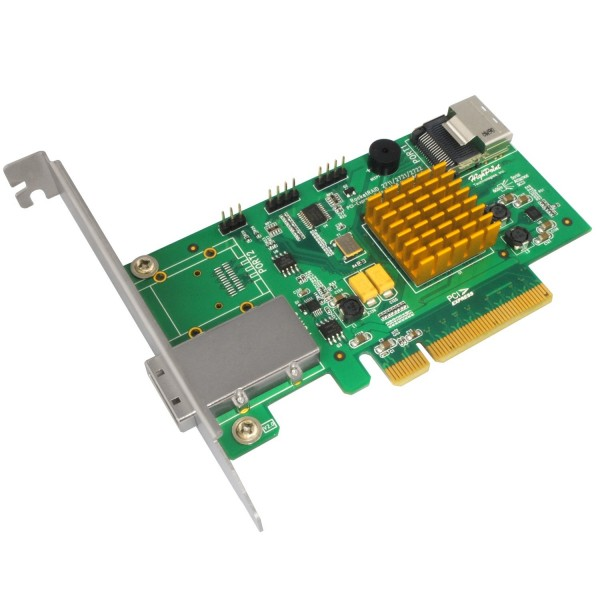 HighPoint RocketRAID 2721 4-Port Internal / 4 Port External SAS 6Gb/s PCIe 2.0 x8 RAID HBA, B0044CPEUQ