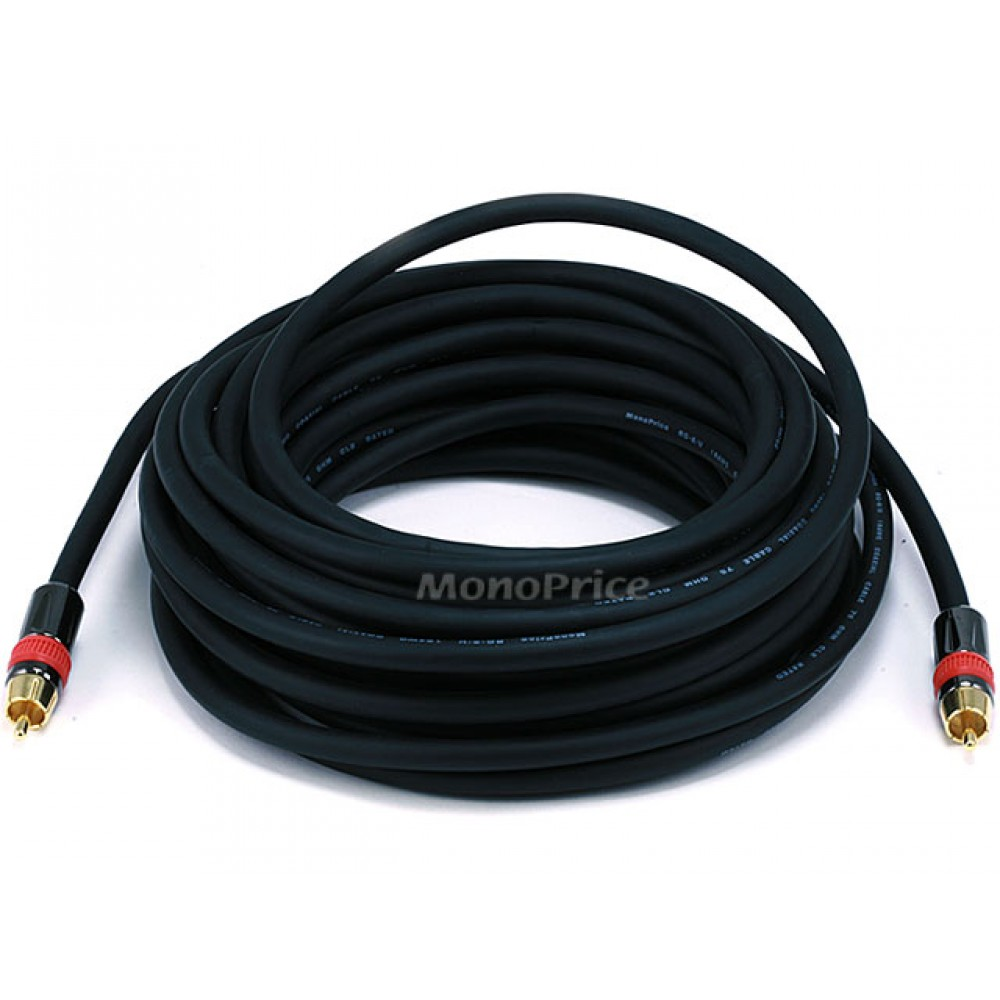 10.7m High-quality Coaxial Audio/Video RCA CL2 Rated Cable - RG6/U 75ohm (for S/PDIF, Digital Coax, Subwoofer & Composite Video), RCA-RCA-3976