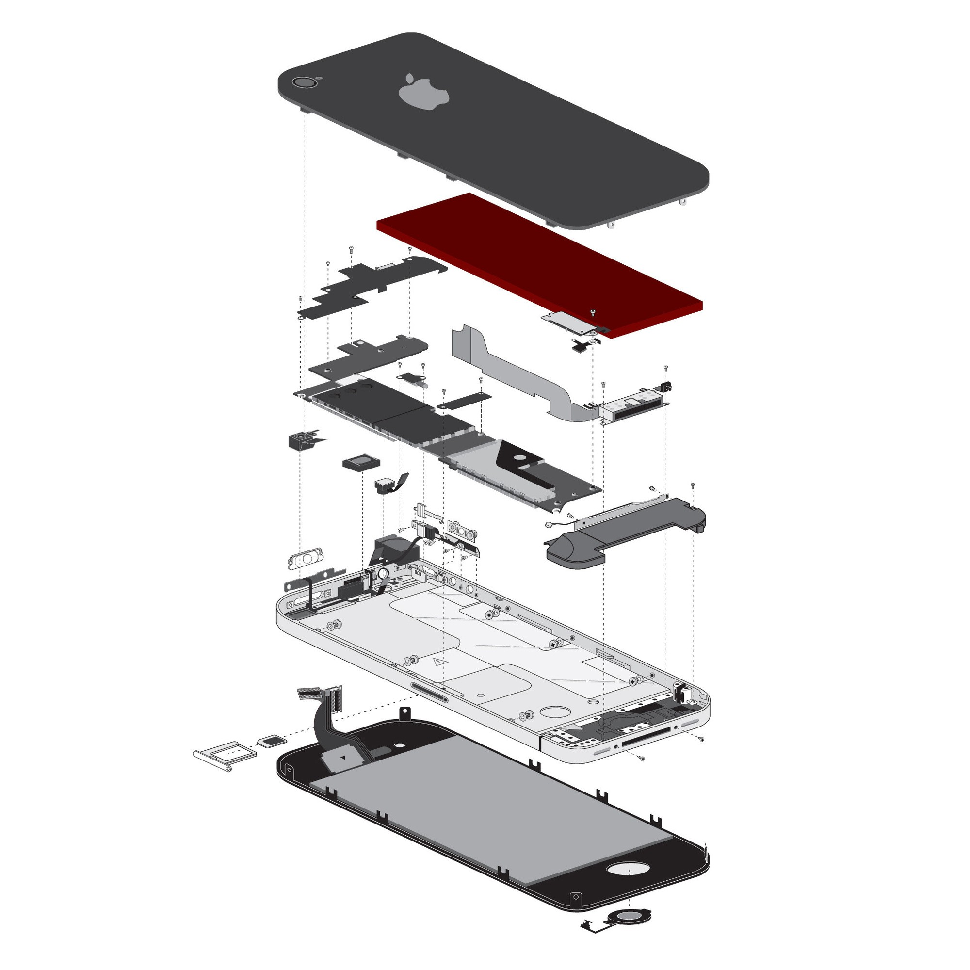iFixit iPhone 4 Replacement Battery, IF182-000-1