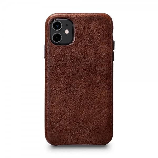 Sena LeatherSkin Leather Case for iPhone 11 - Cognac, SFD44606NPUS