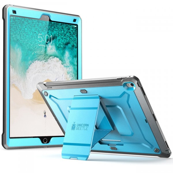 SUPCASE Heavy Duty Unicorn Beetle PRO Series Full-body Rugged Protective Case Without Screen Protector for iPad Pro 12.9 inch 2017 release - Blue/Black, B072LYLLYF