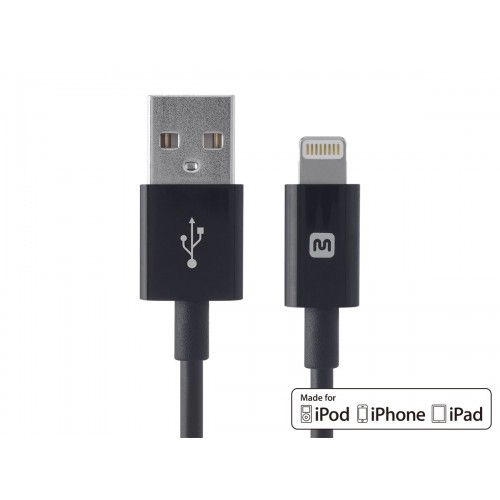 Select Series Apple MFi Certified Lightning to USB Charge & Sync Cable 6ft Black