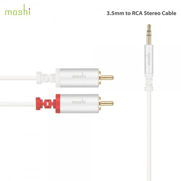 Moshi 3.5mm to RCA Stereo Cable (male to male), MOSH-AUDIO-CAB