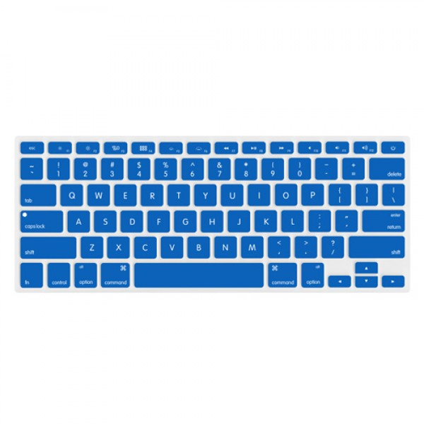 "NewerTech NuGuard Keyboard Cover for 2011-15 MacBook Air 13"", All MacBook Pro Retina - Blue, NWTNUGKBMBRDB"