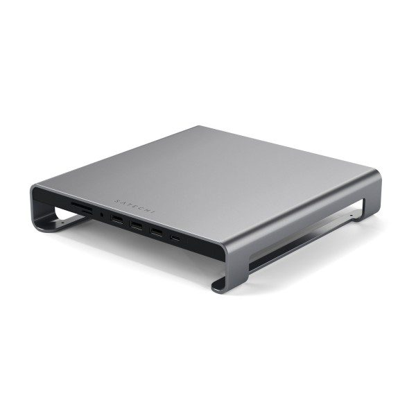 Satechi Aluminium Monitor Stand Hub for iMac - Space Grey, ST-AMSHM