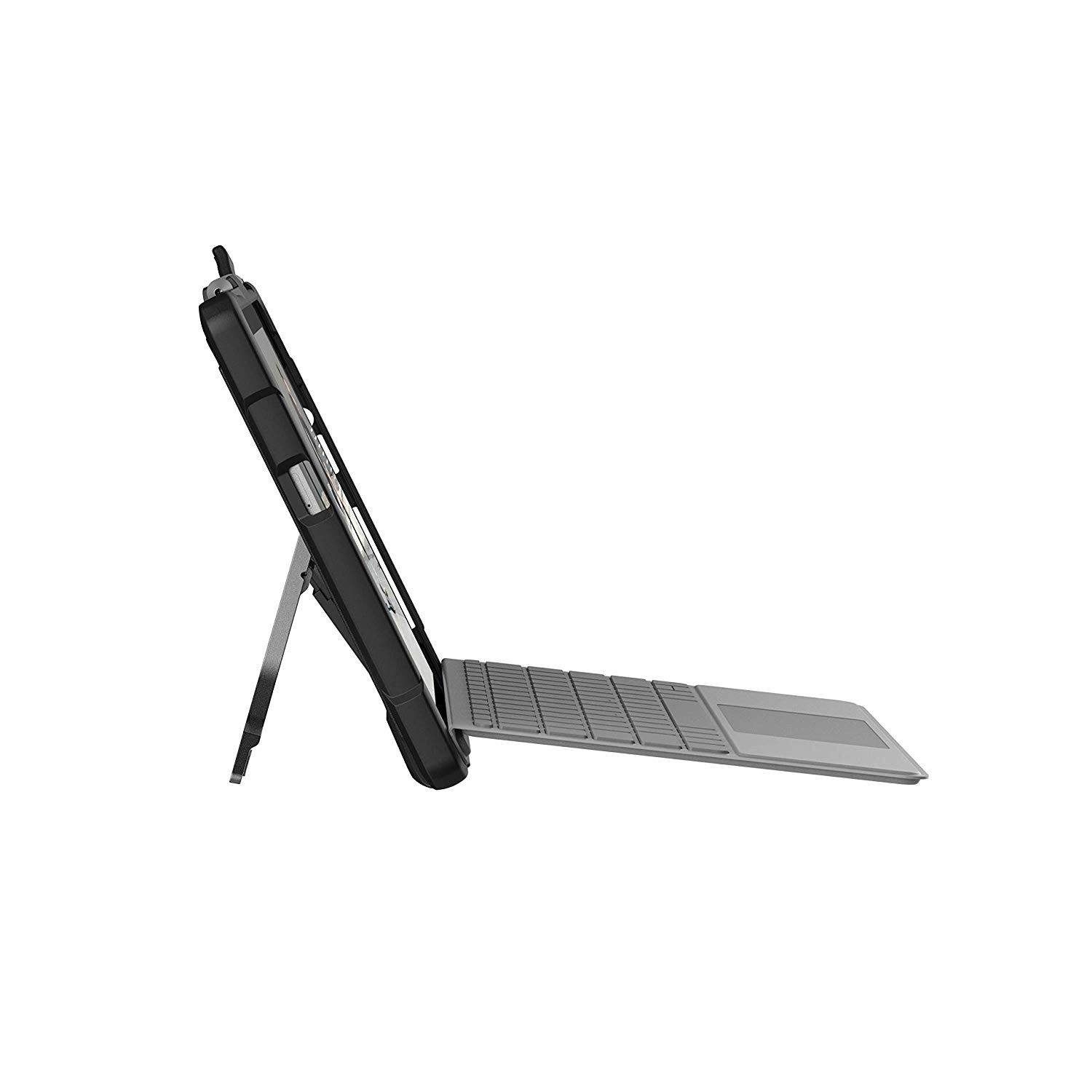 UAG Microsoft Surface Go Feather-Light Rugged Aluminum Stand Military Drop Tested Case - Black, 321076114040