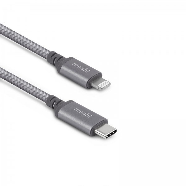 Moshi Integra USB-C Charge/Sync Cable with Lightning Connector (25 cm) - Grey, 99MO084043