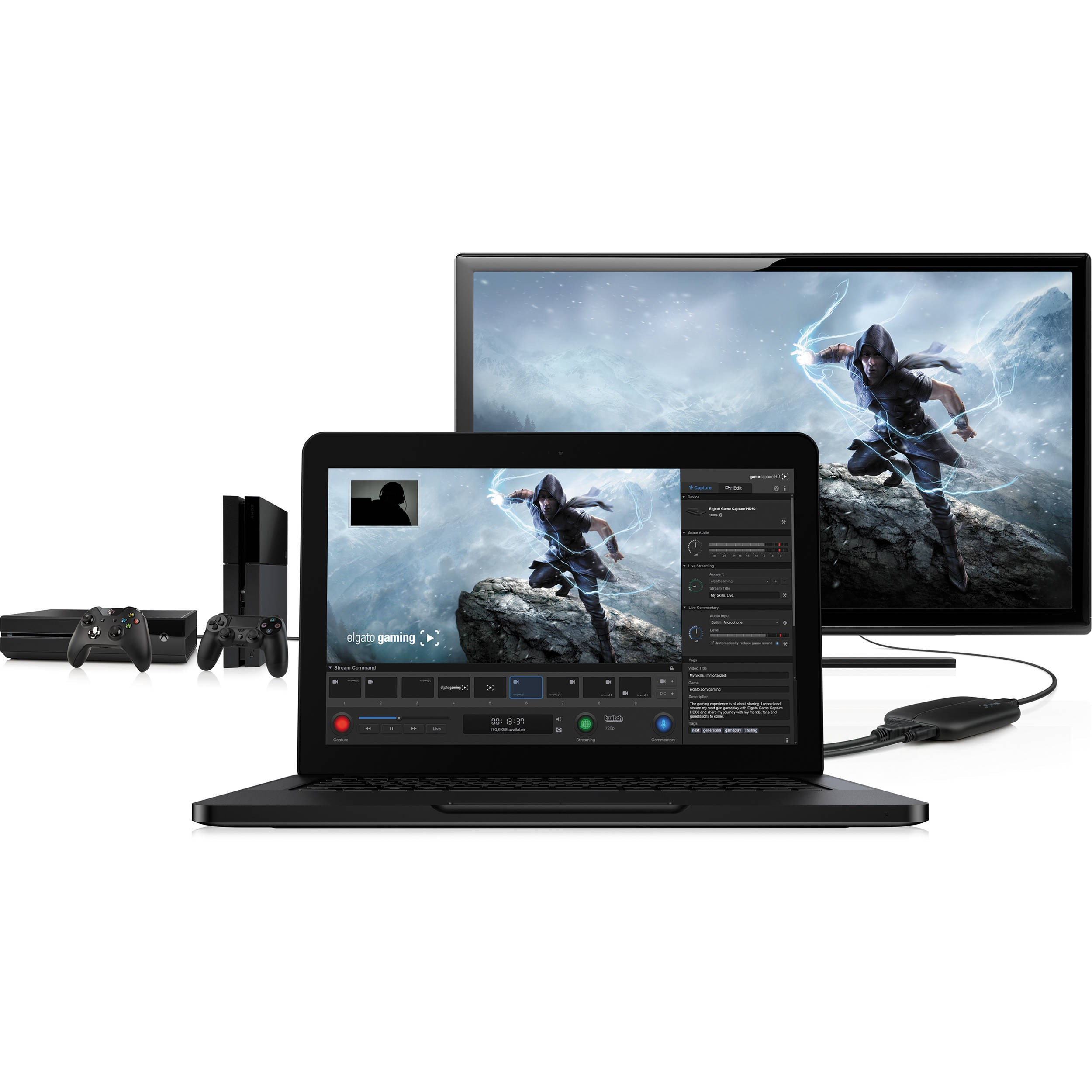 Elgato Systems Game Capture HD60 High Definition Game Recorder, ELG-GAME-2